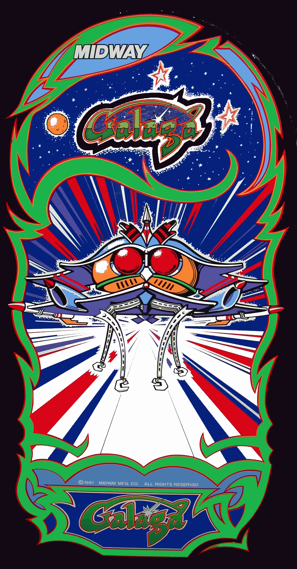 Looking For Namco Class Of 81 Galaga Side Art Coin Op