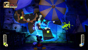 Mickey paints some wall into existence