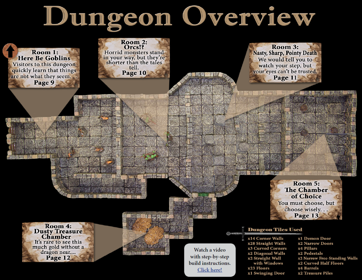 image about Printable Dungeon Tiles Pdf named Dungeons And Dragons Surface Tiles Pdf