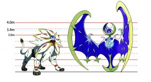 Pokemon Sun and Moon - Solgaleo and Lunala